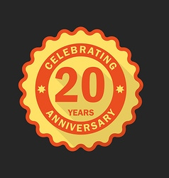 Anniversary emblem logo template Flat style icon vector image vector image