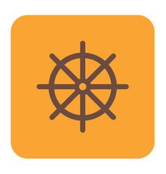 boat steering wheel icon vector image
