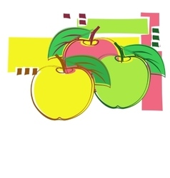 Card with decorative apples vector image