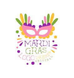carnival or masquerade theme for mardi gras vector image