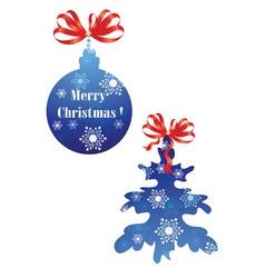 Christmas ball and Christmas tree vector image