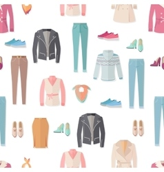 Clothing Seamless Pattern vector image vector image