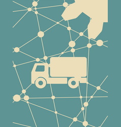 Delivery truck icon isolated vector
