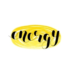 Energy Brush lettering vector image vector image