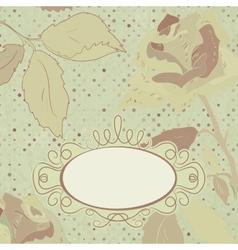 Floral backgrounds vintage vector image