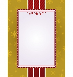 gold Christmas frame vector image vector image