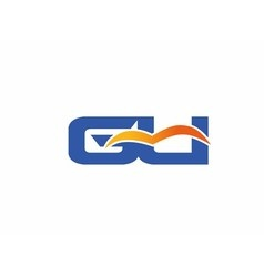Gu letter logo vector image vector image
