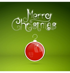 Merry christmas theme on green background vector