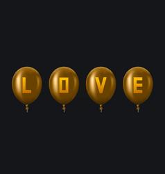 Modern golden balloons background for happy vector