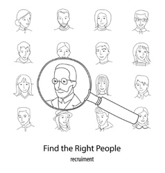 People search square concept vector