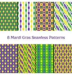 Set of mardi gras patterns vector