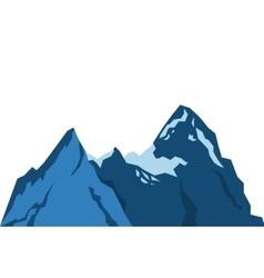 Snowy mountains icon vector