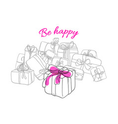 template box gift vector image