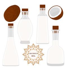 The theme bottles oil vector