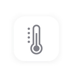 thermometer icon vector image