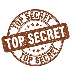 top secret brown grunge round vintage rubber stamp vector image vector image