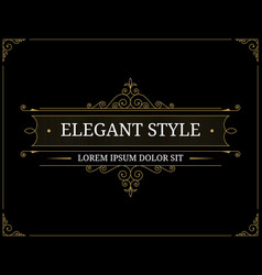 vintage luxury logo template vector image vector image