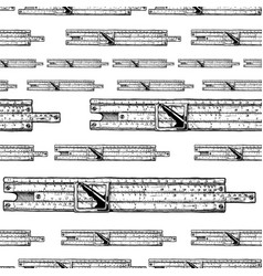 pattern with slide rules vector image