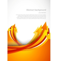 Background with orange arrow vector
