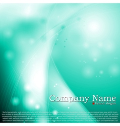 Shiny turquoise waves design vector