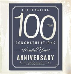 100 years anniversary background vector