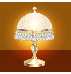 Table lamp with crystal vector