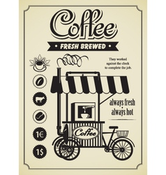 mobile coffee shop vector image