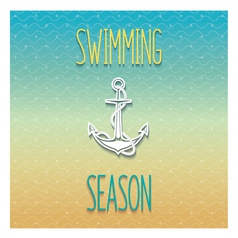 Swimming season design vector