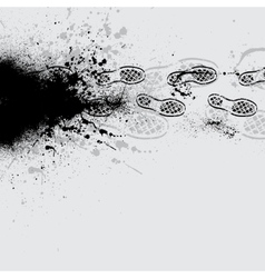 Shoes print black vector image