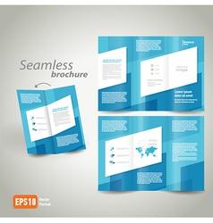 seamless brochure design template vector image