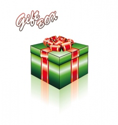 3D gift box with ribbons vector image vector image