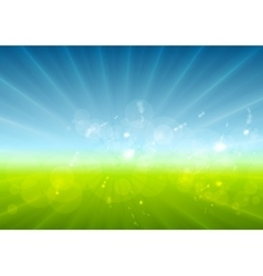 Abstract sunny landscape background vector
