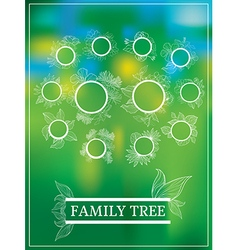 family tree 1 vector image