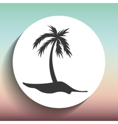 Beach concept design vector