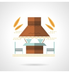 Outdoor cafe flat color design icon vector