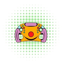 Steering wheel icon comics style vector