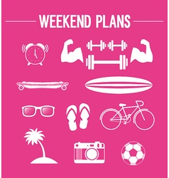 Weekend plans vector image