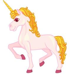 pink unicorn cartoon vector image