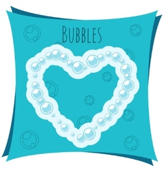 Abstract element Heart made of bubbles vector image