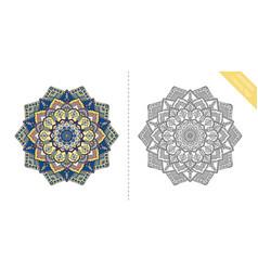 antistress coloring page mandala seventh vector image vector image