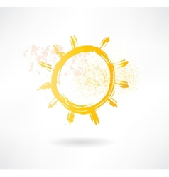 Brush sun icon Creative nature vector image