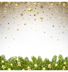 Christmas background with falling stars vector
