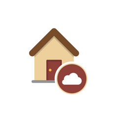 cloud house housing home residence residential vector image