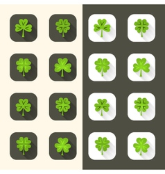 Clover icon set vector