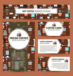 coffee shop pattern corporate identity design vector image vector image