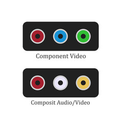 component composit vector image vector image