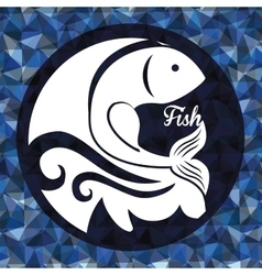 Fish figure design vector image