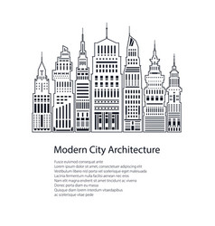 Flyer modern big city vector