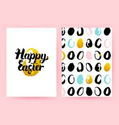 Happy easter retro posters vector