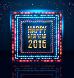 Happy New Year 2015 poster with frame made of vector image